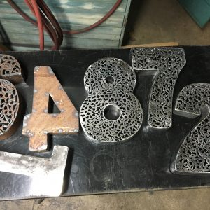 Industrial 3D Steel Plasma Cut House Numbers