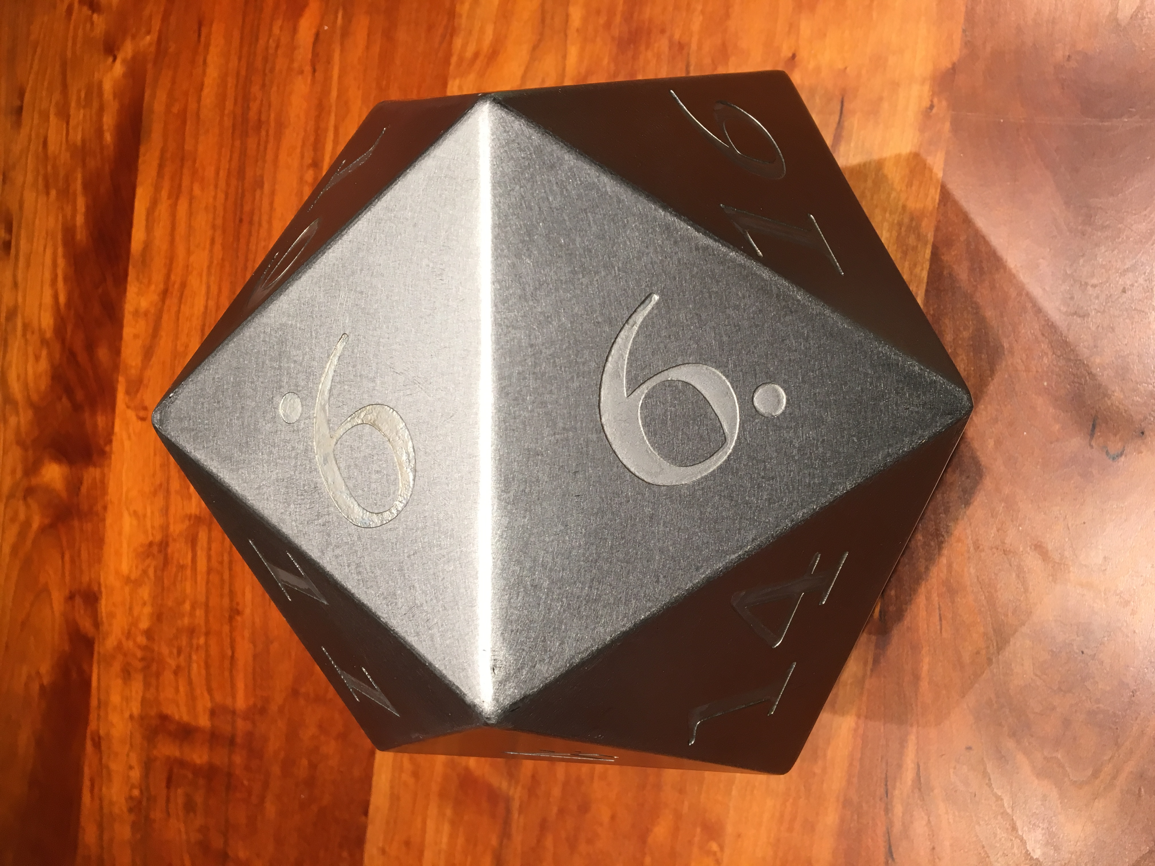 Large Stainless Steel 20 Sided Die Giant D20 Steve