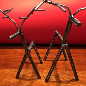 Industrial Style Welded Steel Rebar Reindeer