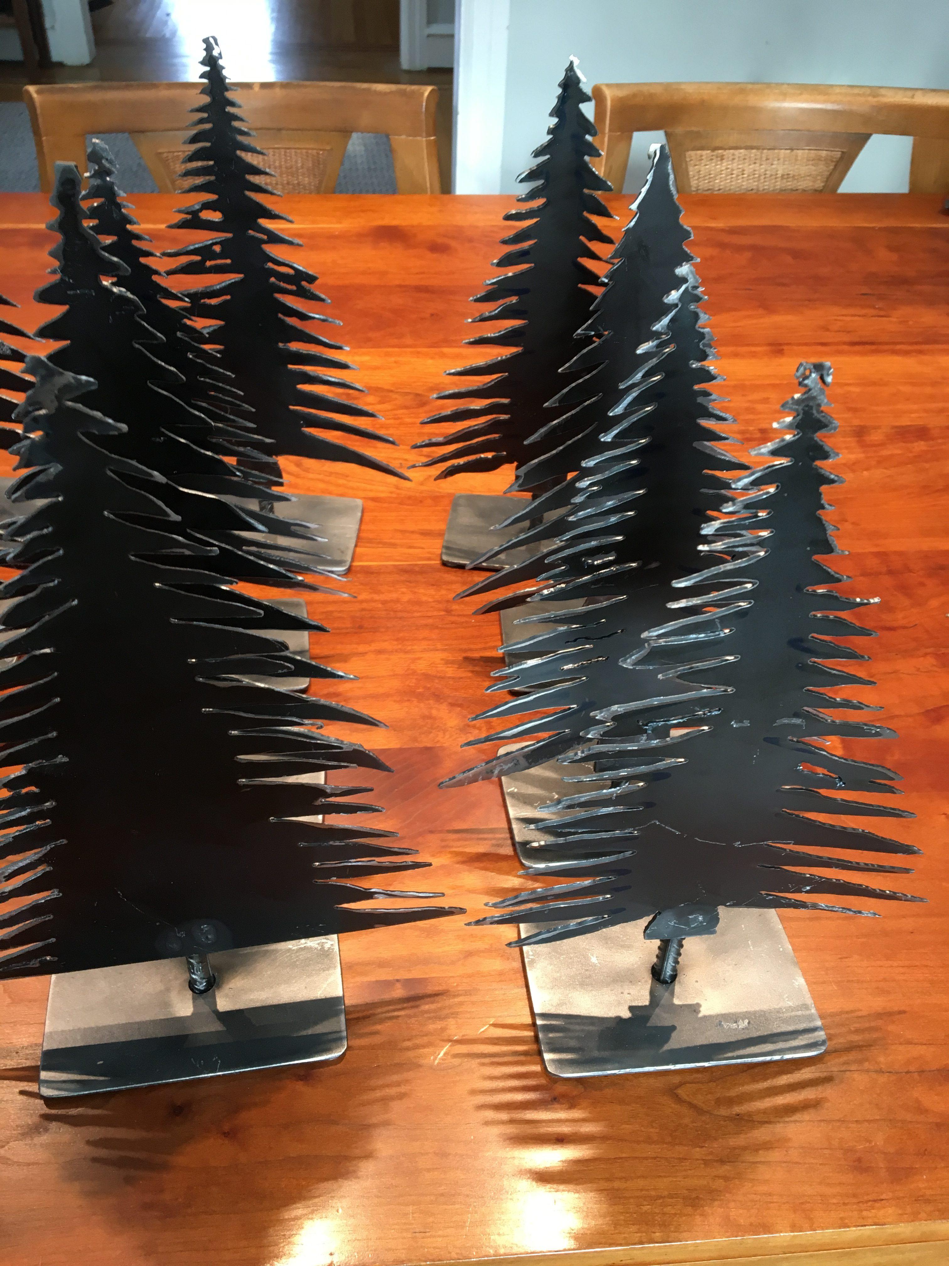 Industrial Style Plasma Cut Steel Christmas Tree Steve