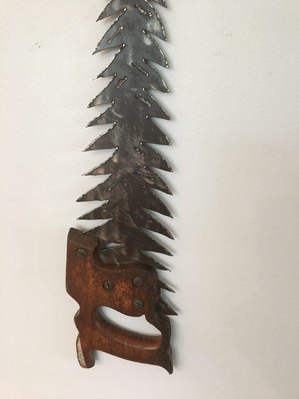 Plasma Cut Hand Saw Tree Wall Art