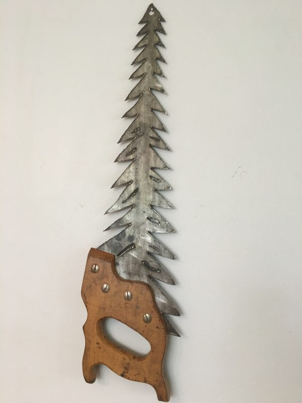 Plasma Cut Hand Saw Tree Wall Art