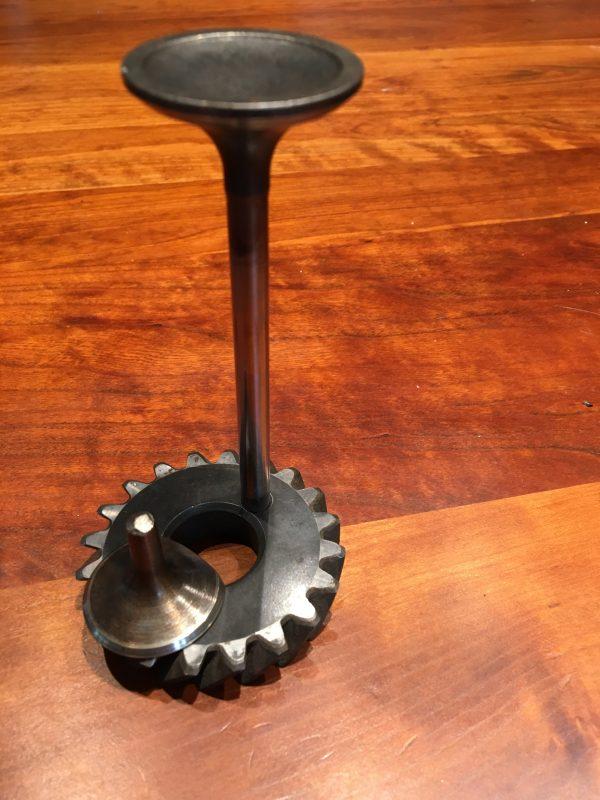 Handmade Engine valve and gear business card holder